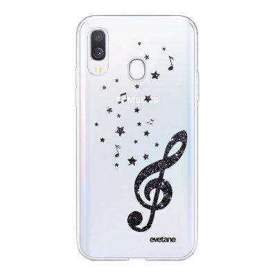 Coque Samsung Galaxy A40 souple transparente Note de Musique Motif Ecriture Tendance Evetane