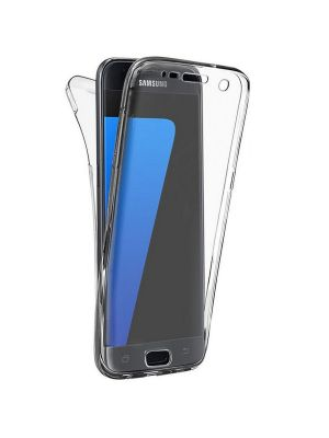 Coque intégrale transparente 360° Ultra Slim en silicone souple pour Samsung Galaxy J1 2016