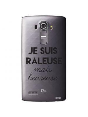 Coque rigide transparent Raleuse Mais Heureuse pour LG G4