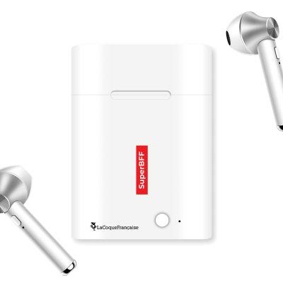 Ecouteurs Sans Fil Bluetooth Argent SuperBFF La Coque Francaise