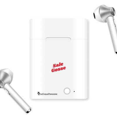 Ecouteurs Sans Fil Bluetooth Argent Sale Gosse Rouge La Coque Francaise