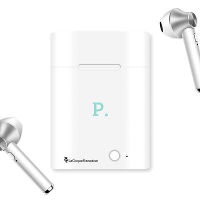 Ecouteurs Sans Fil Bluetooth Argent Initiale P La Coque Francaise