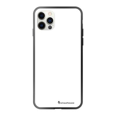 Coque iPhone 12/12 Pro soft touch effet glossy noir Macho a mi temps blanc Design La Coque Francaise