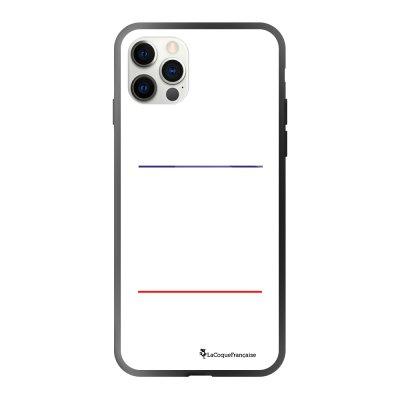 Coque iPhone 12/12 Pro soft touch effet glossy noir Jaloux et capricieux blanc Design La Coque Francaise
