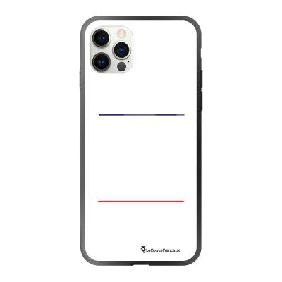 Coque iPhone 12/12 Pro soft touch effet glossy noir Gourmand et paresseux blanc Design La Coque Francaise