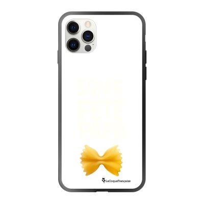 Coque iPhone 12/12 Pro soft touch effet glossy noir Bonne fête papa Design La Coque Francaise
