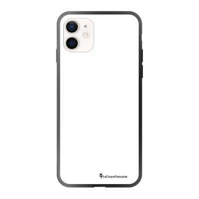 Coque iPhone 12 Mini soft touch effet glossy noir Barbu mais pas piquant blanc Design La Coque Francaise
