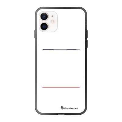 Coque iPhone 12 Mini soft touch effet glossy noir Gourmand et paresseux blanc Design La Coque Francaise