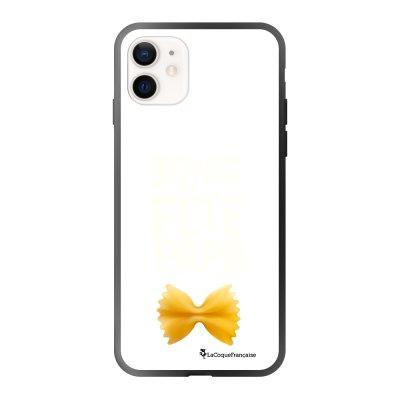 Coque iPhone 12 Mini soft touch effet glossy noir Bonne fête papa Design La Coque Francaise