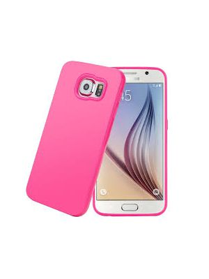 Coque silicone Silhouette rose jelly case pour Salsung Galaxy S6