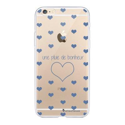 Coque iPhone 6 Plus / 6S Plus souple transparente Pluie de Bonheur Lilas Motif Ecriture Tendance La Coque Francaise.