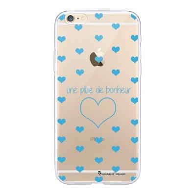 Coque iPhone 6 Plus / 6S Plus souple transparente Pluie de Bonheur Bleu Motif Ecriture Tendance La Coque Francaise.