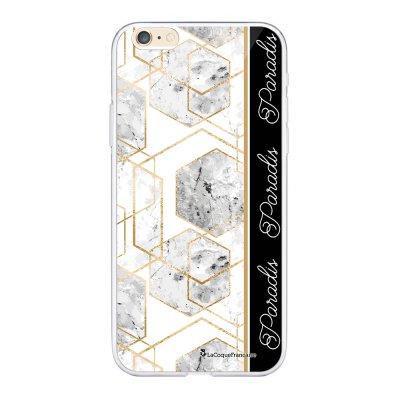 Coque iPhone 6 Plus / 6S Plus souple transparente Marbre Noir Paradis Motif Ecriture Tendance La Coque Francaise.