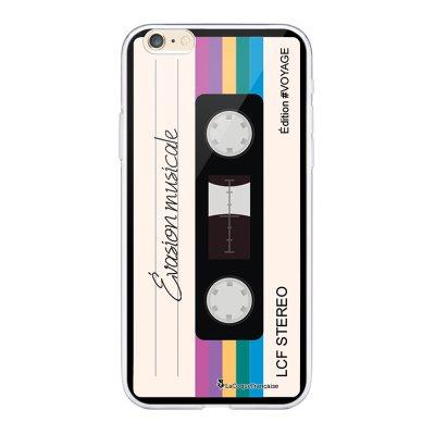 Coque iPhone 6 Plus / 6S Plus souple transparente Cassette Vintage Evasion Motif Ecriture Tendance La Coque Francaise.