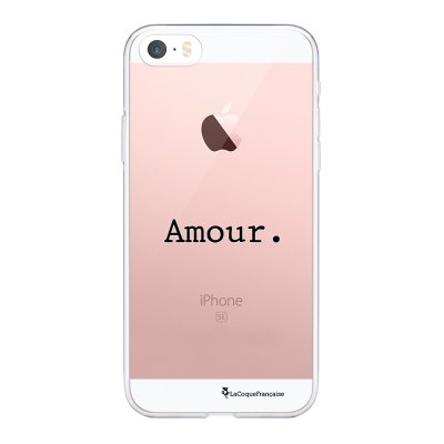Coque iPhone 5/5S/SE souple transparente Amour Motif Ecriture Tendance La Coque Francaise.
