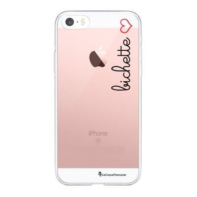 Coque iPhone 5/5S/SE souple transparente Bichette Motif Ecriture Tendance La Coque Francaise.