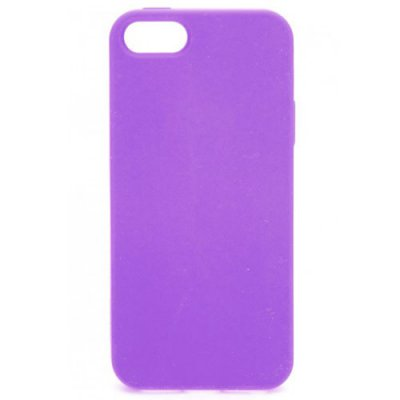 Coque silicone Xqisit Soft Grip violet pour iPhone 5