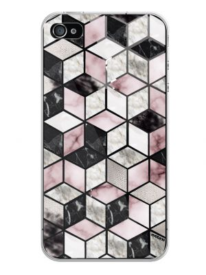 Coque rigide transparent Cubes Géométriques pour iPhone 4 /4S