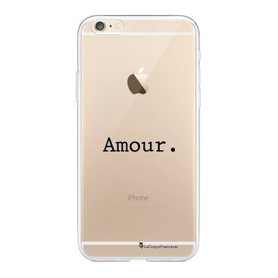 Coque iPhone 6/6S souple transparente Amour Motif Ecriture Tendance La Coque Francaise.