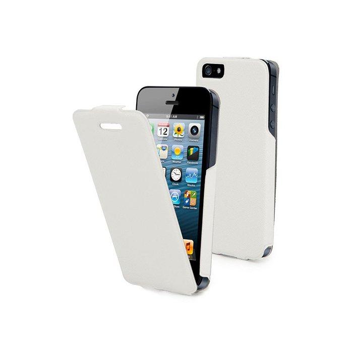 Muvit etui clapet iFlip blanc pour iPhone 5