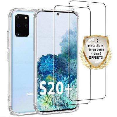 Coque Samsung Galaxy S20 Plus Silicone + 2 verres trempés.