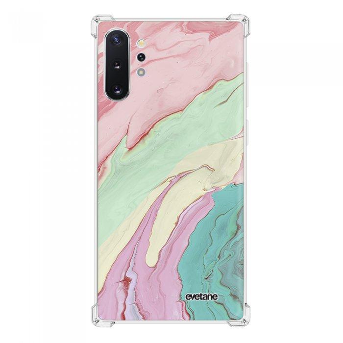 Coque Samsung Galaxy Note 10 Plus anti-choc souple angles renforcés transparente Mercure Pastels Evetane.