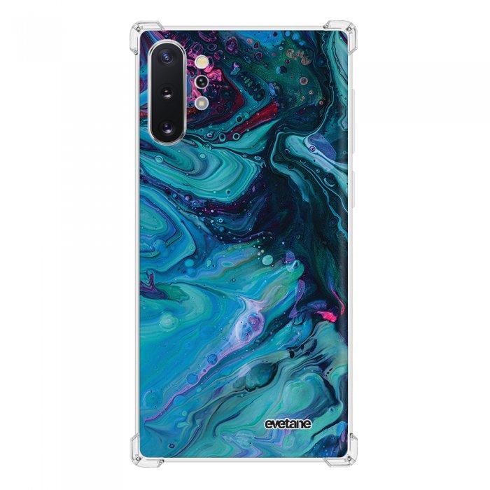Coque Samsung Galaxy Note 10 Plus anti-choc souple angles renforcés transparente Mercure Bleu Evetane.