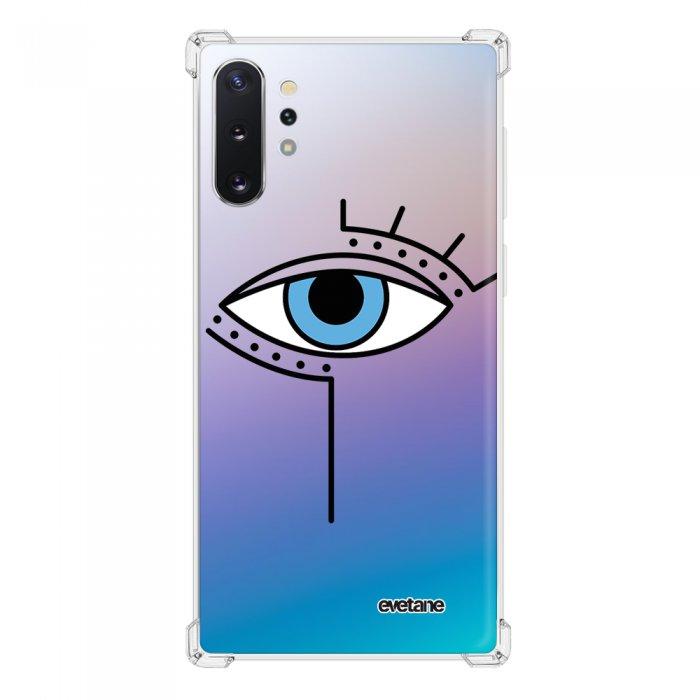 Coque Samsung Galaxy Note 10 Plus anti-choc souple angles renforcés transparente Oeil Graphique Evetane.
