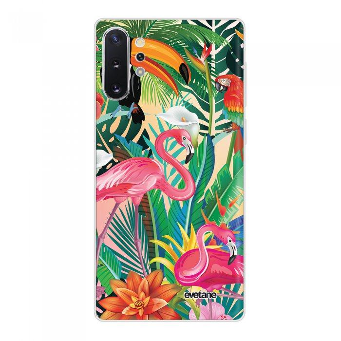Coque Samsung Galaxy Note 10 Plus 360 intégrale transparente Animaux Tropicaux Tendance Evetane