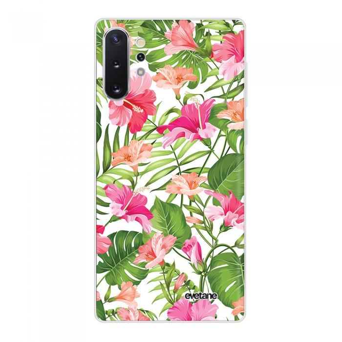 Coque Samsung Galaxy Note 10 Plus 360 intégrale transparente Fleurs Tropicales Tendance Evetane
