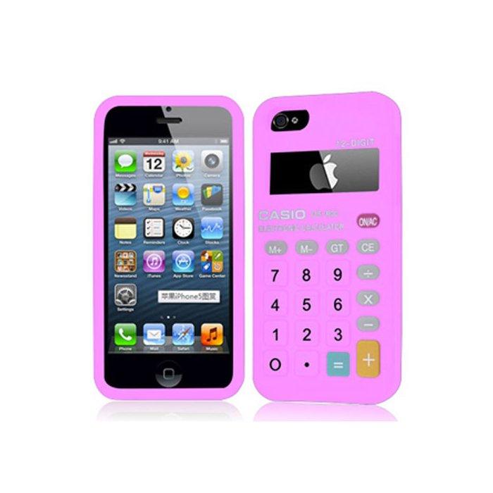 Coque aspect Calculatrice rose en relief pour iPhone 5/5S