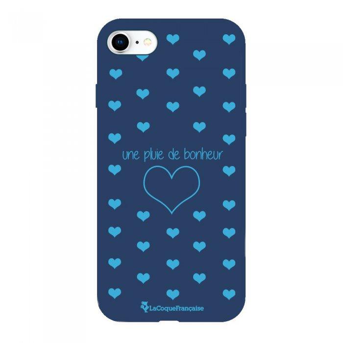 Coque iPhone 6/6S Silicone Liquide Douce bleu marine Pluie de Bonheur Bleu La Coque Francaise.