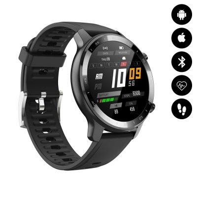 Montre connectée Bluetooth IP68 podomètre, fréquence cardiaque - Noir