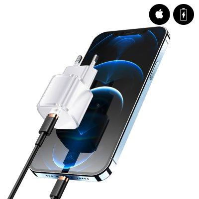 Chargeur secteur Type C  20W  iPhone 12 Pro Max blanc