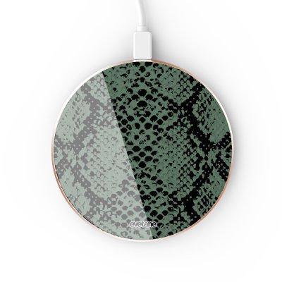 Chargeur Induction contour gold Python vert Evetane