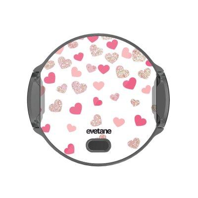 Support voiture avec charge à Coeurs en confettis Evetane