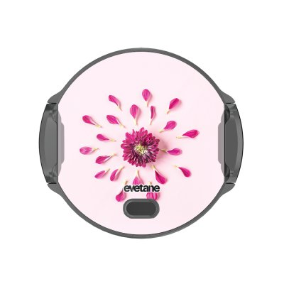 Support voiture avec charge à Fleur Rose Fushia Evetane