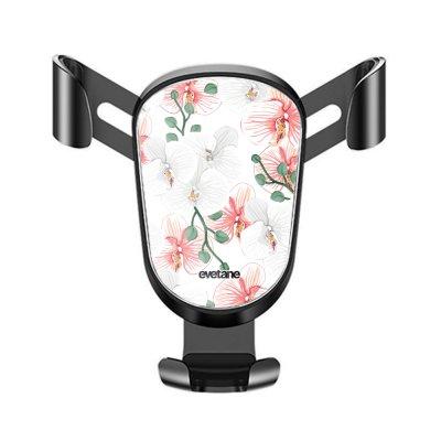 Support téléphone voiture Orchidées Motif Ecriture Tendance Evetane