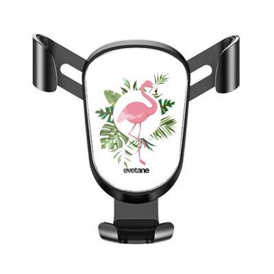 Support téléphone voiture Flamant Rose Cercle Motif Ecriture Tendance Evetane