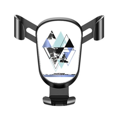 Support téléphone voiture Triangles Bleus Motif Ecriture Tendance Evetane