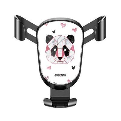 Support téléphone voiture Panda Géométrique Rose Motif Ecriture Tendance Evetane