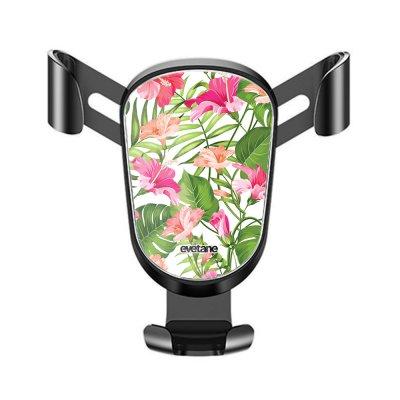 Support téléphone voiture Fleurs Tropicales Motif Ecriture Tendance Evetane