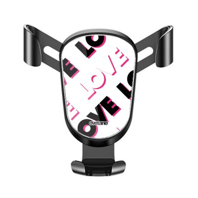 Support téléphone voiture Love and Love Motif Ecriture Tendance Evetane