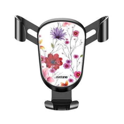 Support téléphone voiture Fleurs Multicolores Motif Ecriture Tendance Evetane