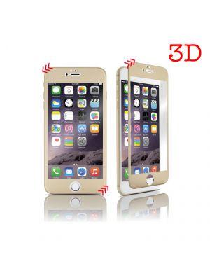 Vitre protectrice avant en verre trempé 3D integrale incurvée pour iPhone 6/6S - Or