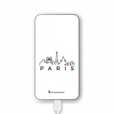 Batterie en verre trempé universel 8000mAh Skyline Paris Motif Ecriture Tendance La Coque Francaise