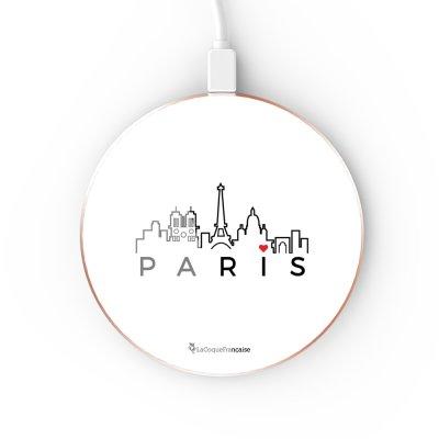 Chargeur Induction contour gold Skyline Paris La Coque Francaise