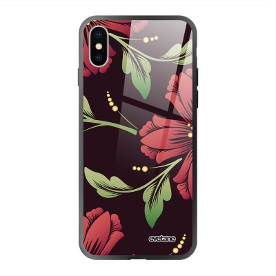 Coque iPhone Xs Max soft touch effet glossy Lys Bordeaux Design Evetane