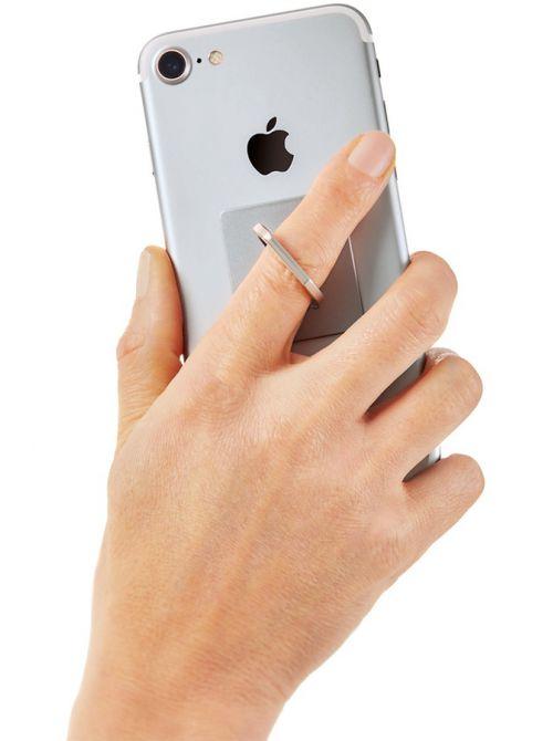 Support anneau pour Smartphone avec Pompon porte-clefs