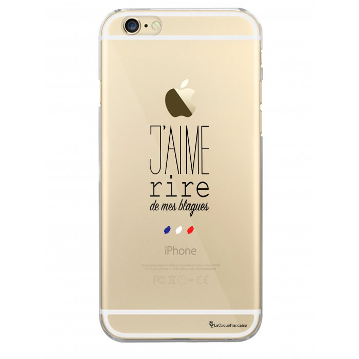 coque rigide transparent jaime rire de mes blagues pour iphone 6 6s